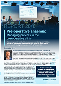 Pre-opative anaemia: Managing patients in the pre-operative clinic